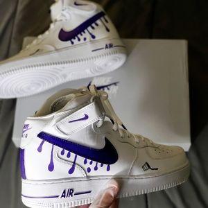 "Custom Nike Air Force 1 ""Purple Fanta"""